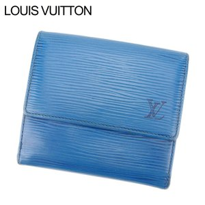 fc185b5c6aad01 ルイ ヴィトン Louis Vuitton Wホック 財布 二つ折り 財布 レディース メンズ ポルトモネ・ビエ・カルトクレディ M63485 エピ  中古 廃盤 人気 C3339