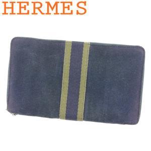 エルメス 長財布 ラウンドファスナー パスポートケース パースGM フールトゥ HERMES 中古
