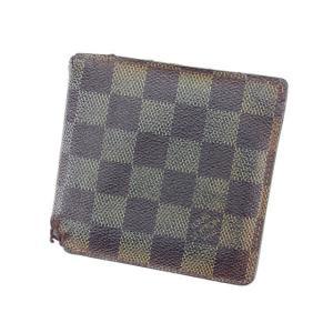 ルイヴィトン Louis Vuitton 財布 二つ折り財布 ダミエ ポルトフォイユ マルコ レディース 中古|branddepot-tokyo