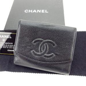 ■管理番号:D1560 【商品説明】 シャネルの  Wホック財布です。 定番人気のココマーク入り☆コ...
