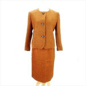 20f358e37a6e24 ディオール Dior スーツ ツィード 9 オレンジ系 レディース 中古