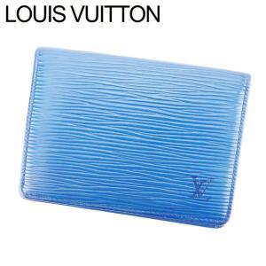 ルイ ヴィトン LOUIS VUITTON キーケース パスケース レディース メンズ 可 ポルト2カルトヴェルティカル M63205 エピ 廃盤 人気|branddepot-tokyo