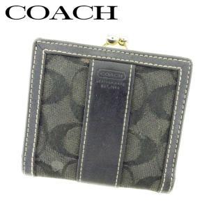 c2494e4c1377 コーチ COACH がま口 財布 二つ折り 財布 レディース シグネチャー 中古 人気 E1302