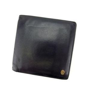 9e4cca9c0370 カルティエ Cartier 財布 二つ折り財布 パシャ ブラック ゴールド メンズ 中古