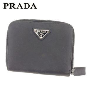プラダ 二つ折り 財布 ラウンドファスナー トライアングルロゴ PRADA 中古
