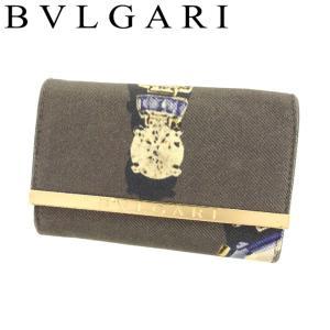 ブルガリ BVLGARI キーケース 6連キーケース レディース 32824 ジュエルプリント 中古 人気 F1387|branddepot-tokyo