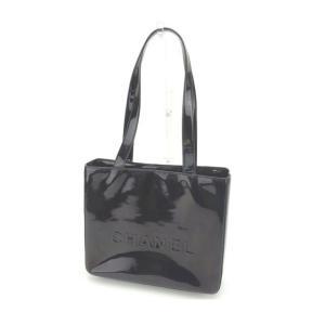 6d2234dd6ed5 シャネル Chanel バッグ トートバッグ ロゴ ブラック レディース 中古 Bag