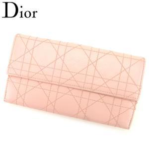 98064d29aef1 ディオール Dior 長財布 Wホック レディース レディディオール 中古