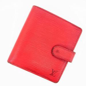 3a86d25bc34f ルイヴィトン Louis Vuitton 財布 二つ折り財布 エピ ポルト ビエ コンパクト レッド レディース 中古
