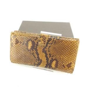 ■管理番号:P217 【商品説明】 ボッテガ ヴェネタの  長財布です。 高級なパイソンレザー☆機能...