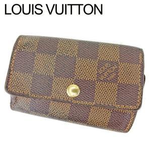 296cb833f002 ルイ ヴィトン Louis Vuitton キーケース 6連キーケース レディース メンズ ミュルティクレ6 N62630 ダミエ 中古 人気 セール  P804