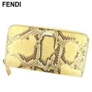 ■管理番号:P817  【商品説明】 フェンディの 長財布です♪ ゴージャスパイソン柄☆ラウンドファ...