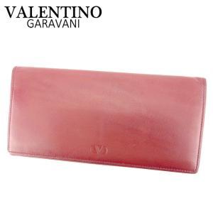 ad79a5f71093 ヴァレンティノ ガラヴァーニ VALENTINO GARAVANI 長札入れ 札入れ レディース メンズ Vマーク 中古 人気 セール P901