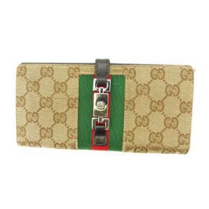 ■管理番号:Q237  【商品説明】 グッチの 「ジャッキー金具付き」 長財布です。 定番人気のGG...