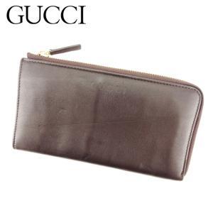 ■管理番号:Q500  【商品説明】 グッチ【Gucci】の  長財布です。 L字ファスナー式で大き...