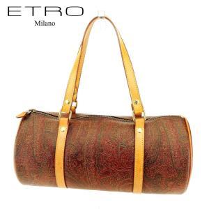 ■管理番号:Q580  【商品説明】 エトロの ハンドバッグです。 定番人気のオシャレなペイズリー柄...