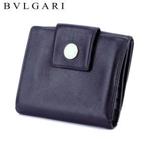 ■管理番号:T10409  【商品説明】 ブルガリ【BVLGARI】の  Wホック財布です。 シンプ...