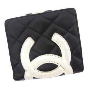 ac958fa79745 シャネル CHANEL 二つ折り財布 がま口 コンパクトサイズ レディース カンボンライン