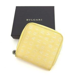 ■管理番号:T12025  【商品説明】 ブルガリの  二つ折り財布です。 定番人気のロゴマニア柄☆...