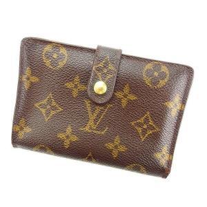 くらしの応援クーポン8%オフ ルイヴィトン 二つ折り財布 がま口 ポルトフォイユ・ヴィエノワ M61674 モノグラム Louis Vuitton 中古|branddepot-tokyo
