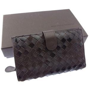 ■管理番号:T15989  【商品説明】 ボッテガヴェネタの  二つ折り財布です♪ 定番人気のオシャ...