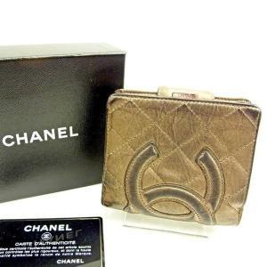 8659118895dd シャネル CHANEL がま口財布 二つ折り財布 レディース メンズ 可 カンボンライン