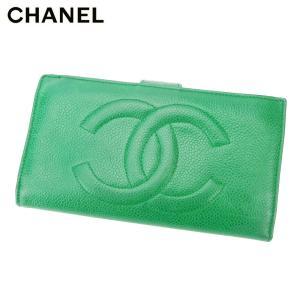 シャネル 長財布 がま口 財布 オールドシャネル ココマーク CHANEL 中古
