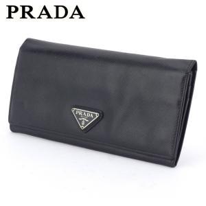プラダ 長財布 ファスナー付き 財布 レディース メンズ トライアングルロゴ PRADA 中古