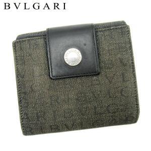 ■管理番号:T17224  【商品説明】 ブルガリの 「ロゴボタン付き」 Wホック財布です♪ 定番人...