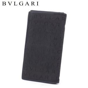 ブルガリ 長財布 ファスナー付き 財布 31001 ロゴマニア BVLGARI 中古
