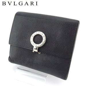 ブルガリ Wホック 財布 二つ折り メンズ 30410 ブルガリブルガリ BVLGARI 中古
