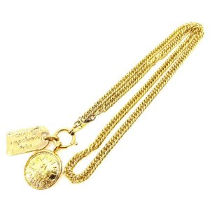 0bcf0d6862ea シャネル Chanel ネックレス コイン カンボンプレート ゴールド レディース 中古 Necklace
