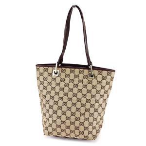 b21aef015e79 グッチ Gucci バッグ トートバッグ GGキャンバス ベージュ ブラウン レディース メンズ 中古 Bag