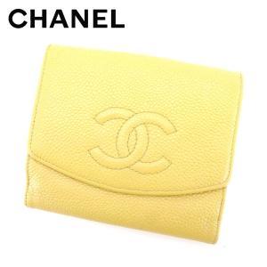 73e828cbfcd7 シャネル CHANEL Wホック財布 二つ折り 財布 レディース キャビアスキン ヴィンテージ 人気