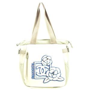 8f7ee762b7d7 シャネル Chanel バッグ トートバッグ ココマーク カメリア柄 スポーツライン ホワイト グレー レディース 中古 Bag