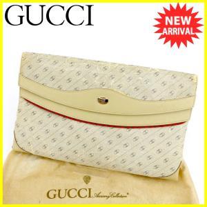 816f4c267f46 グッチ Gucci バッグ クラッチバッグ ダブルG オールドグッチ ベージュ グレー 灰色系 レディース メンズ 訳あり 中古 Bag