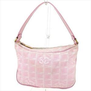 53a24c9a6706 シャネル Chanel バッグ ショルダーバッグ ニュートラベルライン ピンク ゴールド レディース 中古 Bag