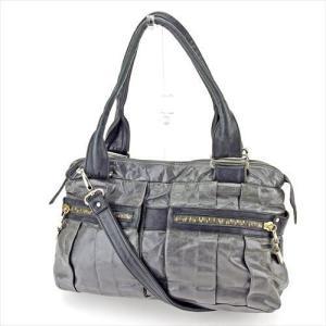60ab2682fd98 シーバイ クロエ Chloe バッグ ショルダーバッグ デイトリッパー グレー 灰色 ブラック シルバー ゴールド レディース 中古 Bag