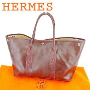 0aba132cc6c3 エルメス Hermes バッグ トートバッグ セリエ ガーデンパーティPM ブラウン レディース メンズ 中古 Bag