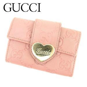 24fa88b49bbf グッチ Gucci キーケース 6連 グッチシマ ピンク ゴールド レディース 中古 Key Case