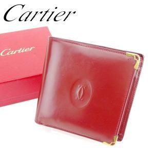 23ea83408b46 カルティエ Cartier 財布 二つ折り財布 マストライン ボルドー レディース メンズ 中古