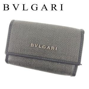 d2925307e57e ブルガリ Bvlgari キーケース 6連 ブラック グレー 灰色 レディース メンズ 中古 Key Case