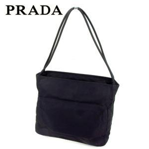 bdb3b7f53b92 プラダ Prada バッグ ショルダーバッグ ブラック レディース メンズ 中古 Bag