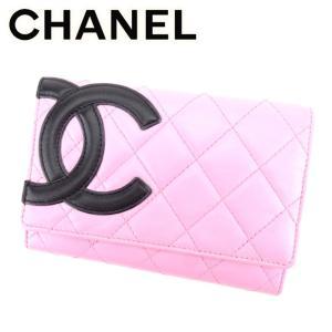 601715c2ce8f シャネル Chanel 財布 二つ折り財布 カンボンライン ピンク ブラック シルバー レディース 中古