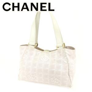 517ecd8ac3ed シャネル Chanel バッグ トートバッグ ニュートラベルライン ホワイト 白 ピンク レディース メンズ 中古 Bag