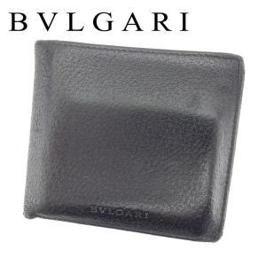 ■管理番号:T7294 【商品説明】 ブルガリ【BVLGARI】の 二つ折り財布です。 シンプルなロ...