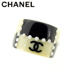 b1ad126dc63d シャネル Chanel 指輪 リング ココマーク 13〜14号 ベージュ ブラック ホワイト 白 レディース 中古