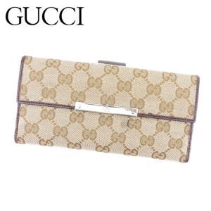 ■管理番号:T7494 【商品説明】 グッチ【GUCCI】の  長財布です。 定番人気のGGキャンバ...