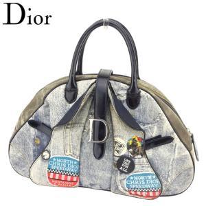 ■管理番号:T8074  【商品説明】 ディオール【Dior】の ハンドバッグです。 オシャレなデニ...