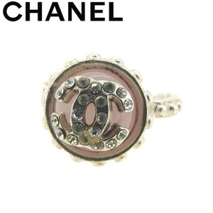 a0d25eff4b89 シャネル CHANEL 指輪 リング アクセサリー レディース ♯13号 ラインストーン付き ココマーク 中古 ヴィンテージ 美品 T8165